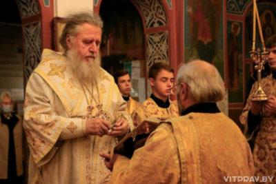 В канун Недели 13-й по Пятидесятнице архиепископ Димитрий совершил всенощное бдение в Свято-Покровском соборе города Витебска